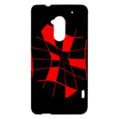 Red abstract flower HTC One Max (T6) Hardshell Case