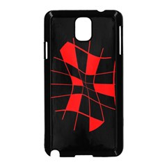 Red abstract flower Samsung Galaxy Note 3 Neo Hardshell Case (Black)