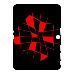 Red abstract flower Samsung Galaxy Tab 4 (10.1 ) Hardshell Case