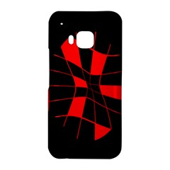 Red abstract flower HTC One M9 Hardshell Case
