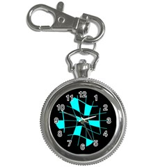 Blue abstract flower Key Chain Watches