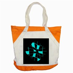 Blue abstract flower Accent Tote Bag