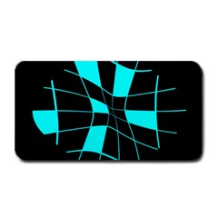 Blue abstract flower Medium Bar Mats