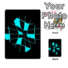 Blue abstract flower Multi-purpose Cards (Rectangle)