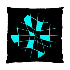 Blue abstract flower Standard Cushion Case (Two Sides)