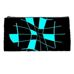 Blue abstract flower Pencil Cases