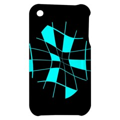 Blue abstract flower Apple iPhone 3G/3GS Hardshell Case