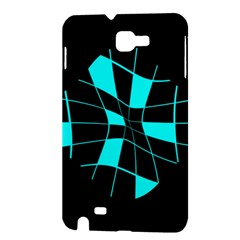 Blue abstract flower Samsung Galaxy Note 1 Hardshell Case