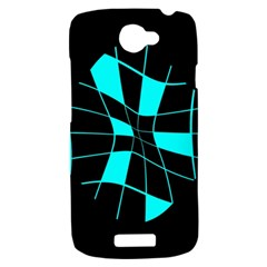 Blue abstract flower HTC One S Hardshell Case