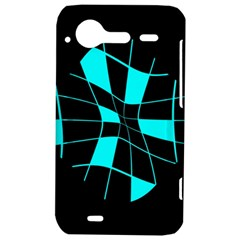 Blue abstract flower HTC Incredible S Hardshell Case