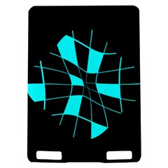 Blue abstract flower Kindle Touch 3G