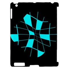 Blue abstract flower Apple iPad 2 Hardshell Case (Compatible with Smart Cover)