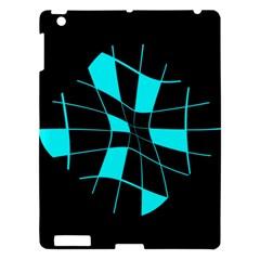 Blue abstract flower Apple iPad 3/4 Hardshell Case