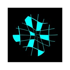 Blue abstract flower Acrylic Tangram Puzzle (6  x 6 )