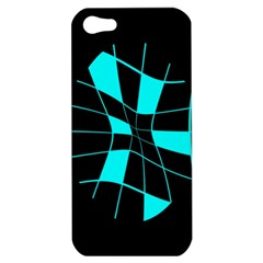 Blue abstract flower Apple iPhone 5 Hardshell Case