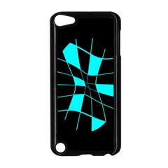 Blue abstract flower Apple iPod Touch 5 Case (Black)