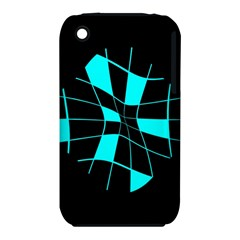 Blue abstract flower Apple iPhone 3G/3GS Hardshell Case (PC+Silicone)