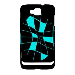 Blue abstract flower Samsung Ativ S i8750 Hardshell Case