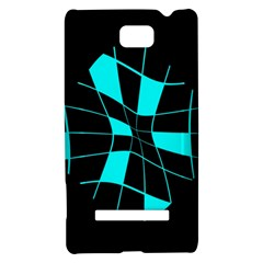 Blue abstract flower HTC 8S Hardshell Case