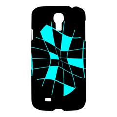 Blue abstract flower Samsung Galaxy S4 I9500/I9505 Hardshell Case