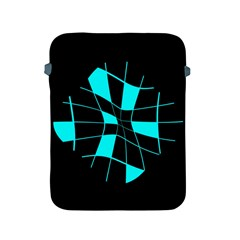 Blue abstract flower Apple iPad 2/3/4 Protective Soft Cases