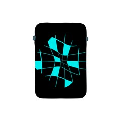 Blue abstract flower Apple iPad Mini Protective Soft Cases