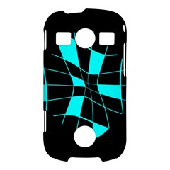 Blue abstract flower Samsung Galaxy S7710 Xcover 2 Hardshell Case