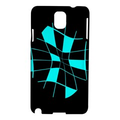 Blue abstract flower Samsung Galaxy Note 3 N9005 Hardshell Case