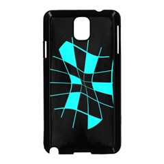 Blue abstract flower Samsung Galaxy Note 3 Neo Hardshell Case (Black)