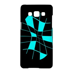 Blue abstract flower Samsung Galaxy A5 Hardshell Case