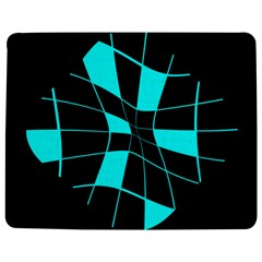 Blue abstract flower Jigsaw Puzzle Photo Stand (Rectangular)