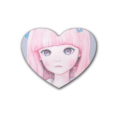 Slow Spring Rubber Coaster (Heart)