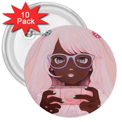 Gamergirl 3 P 3  Buttons (10 pack)