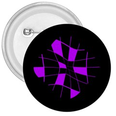 Purple abstract flower 3  Buttons