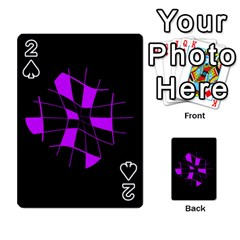 Purple abstract flower Playing Cards 54 Designs