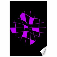 Purple abstract flower Canvas 24  x 36