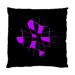 Purple abstract flower Standard Cushion Case (Two Sides)