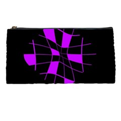Purple abstract flower Pencil Cases