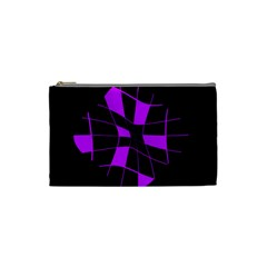 Purple abstract flower Cosmetic Bag (Small)