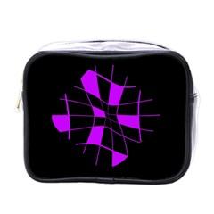 Purple abstract flower Mini Toiletries Bags