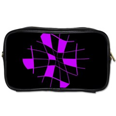 Purple abstract flower Toiletries Bags