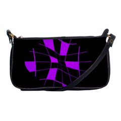 Purple abstract flower Shoulder Clutch Bags