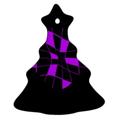 Purple abstract flower Ornament (Christmas Tree)
