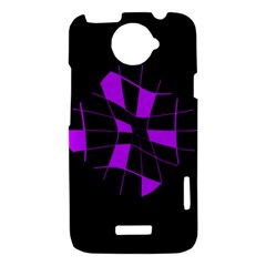 Purple abstract flower HTC One X Hardshell Case