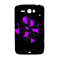 Purple abstract flower HTC ChaCha / HTC Status Hardshell Case