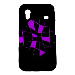 Purple abstract flower Samsung Galaxy Ace S5830 Hardshell Case