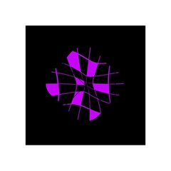 Purple abstract flower Acrylic Tangram Puzzle (4  x 4 )