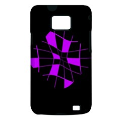 Purple abstract flower Samsung Galaxy S II i9100 Hardshell Case (PC+Silicone)