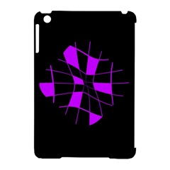 Purple abstract flower Apple iPad Mini Hardshell Case (Compatible with Smart Cover)