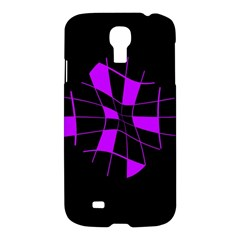 Purple abstract flower Samsung Galaxy S4 I9500/I9505 Hardshell Case
